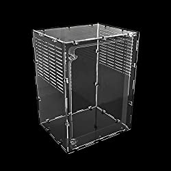 Dalle Craft Acrylic Reptile Terrarium Habitat for juvenile and small arboreal tarantulas chameleon snails or other Larval Reptiles (9.87.913inchV)