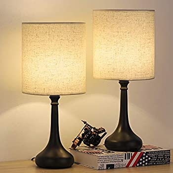 Amazon Com Modern Table Lamps Bedside Desk Lamp Set Of