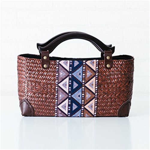 Brown Beach For Rattan Wicker Bobomimi Handbag Designer Embroidered Bags Mai Bamboo Sac Spain A Straw Bag Body Famous Womenbali PPqnUw6AR