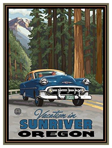 Sunriver Oregon Road Trip Woods Travel Art Print Poster by Paul A. Lanquist (9