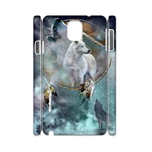 GGMMXO Wolf Howling Shell Phone Case For samsung galaxy note 3 N9000 [Pattern-1]