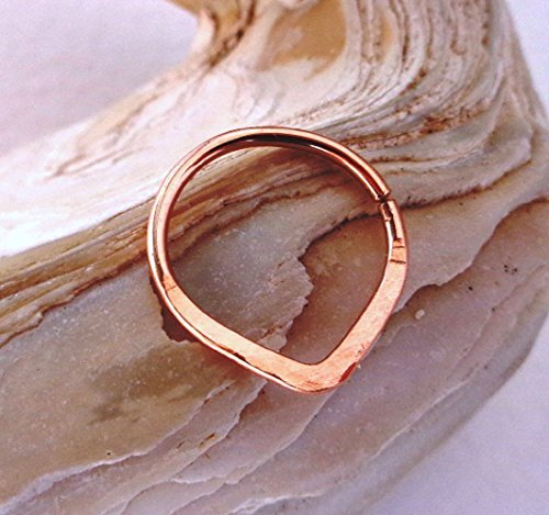 Septum Ring Triangle,Tribal Septum Nose Ring,cartilage,helix,tragus,ear hoop 14k Yellow Gold Triangle Hoop
