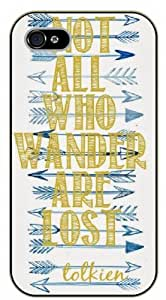iPhone 5 / 5s Not all who wander are lost. Tolkien - black plastic case / Keep Calm, Motivation and Inspiration by icecream design