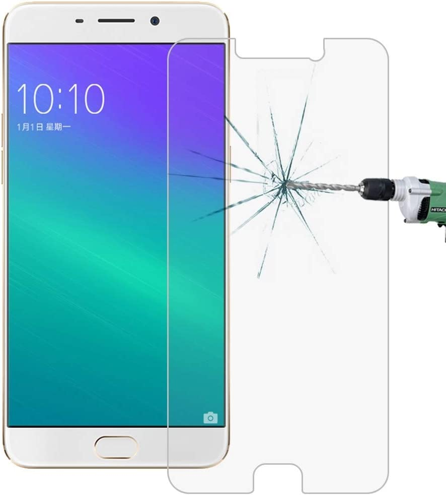 YINZHI Screen Protector Film No Retail Package Clear 50 PCS for Oppo R9 0.26mm 9H Surface Hardness 2.5D Explosion-Proof Tempered Glass Screen Film