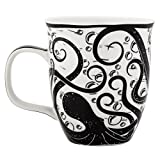 Karma Gifts Boho Black and White Mug, Octopus
