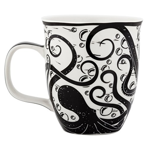 Karma Gifts Black and White Mug, 1 EA, Octopus
