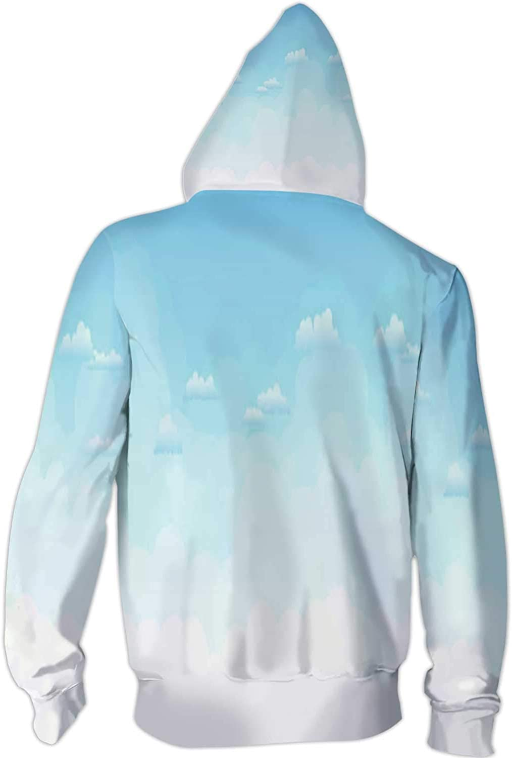 Colorful on a dy Dune Overlooking Tropical Beach,Ladies Full Zip Fleece with Pocket S