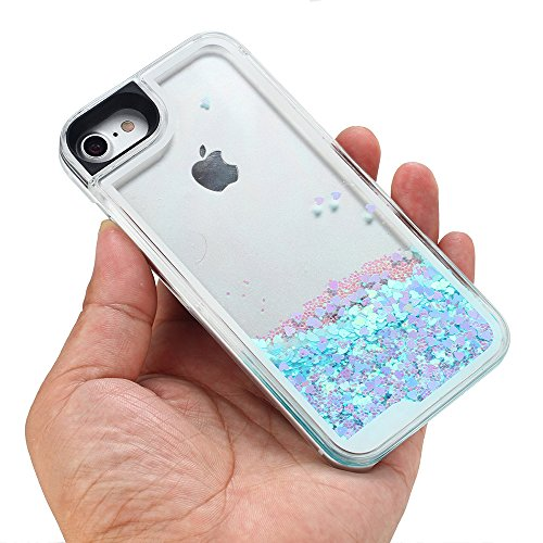 iPhone-7-Case-VEGO-Transparent-PC-Glitter-Quicksand-Floating-Sparkle-Love-Flowing-Liquid-Hard-Case-Cover-for-Apple-iPhone-7-47-inch