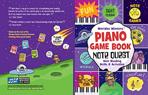 - Meridee Winters Note Quest (Piano Game Book): Note Reading Drills and Activities (Meridee Winters Game Book Series 1)