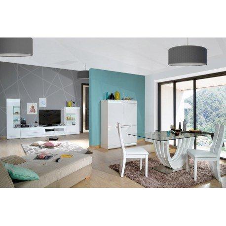 meuble de rangement ovio 4 portes blanc laqu amazonfr cuisine maison