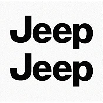 Jeep tj side panel logo decal set of two black 070 oracal