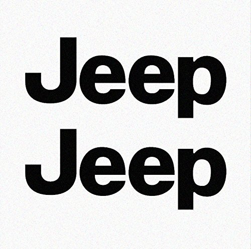 Side Panel Decal - Jeep TJ Side Panel Logo Decal - Set of Two (Black - 070/Oracal 651)