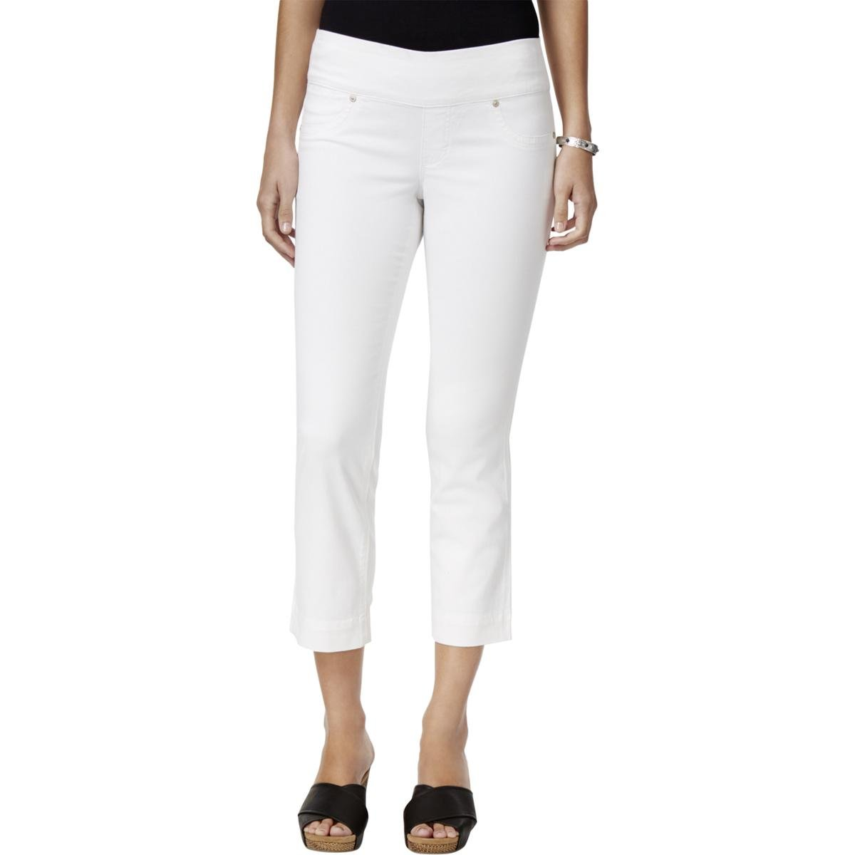 Style & Co. Womens Low Rise Pull On Capri Jeans White M