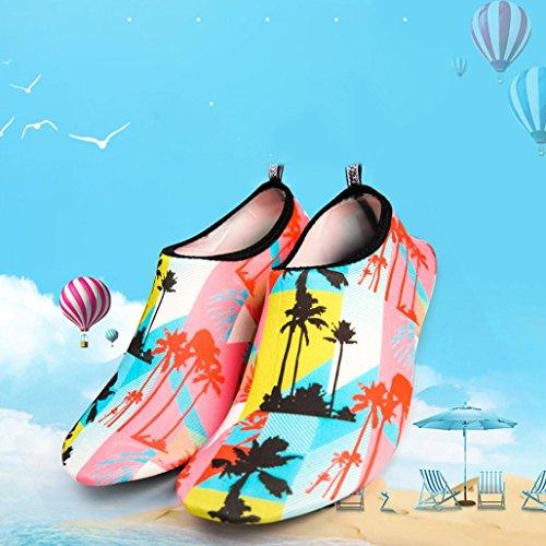 Hommes Femmes Eau Peau Chaussures Sikye Slip-on Casual Surf Plage Danse Chaussures De Bain À Séchage Rapide Multicolor Noir