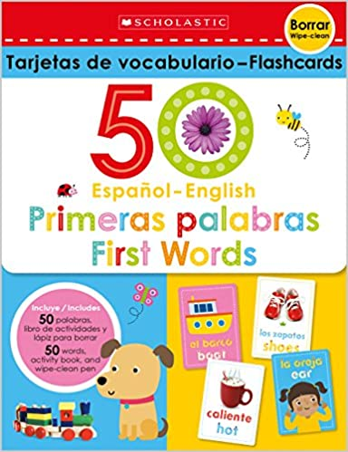 Flash Cards Set - 50 Spanish-English First Words (Scholastic