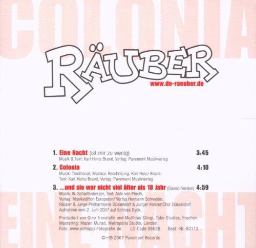 Eine Nacht/Colonia [Single-CD] - Amazon.com Music