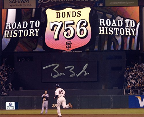 Barry Bonds San Francisco Giants Signed Autographed 8 x 10 Road to History Photo COA