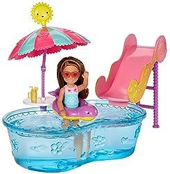 Barbie Club Chelsea Pool & Water Slide Playset