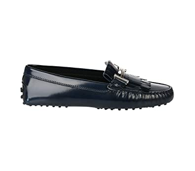 066923cc38a1d Amazon.com | Tod's Gommino Driving Shoes in Leather Blue, Womens ...