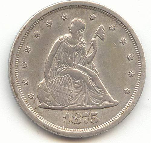 1875 S Twenty-Cent Piece About Uncirculated Details
