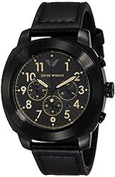 Emporio Armani Men's AR6061 Sportivo Analog Display Analog Quartz Black Watch