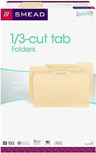 Smead File Folder, 1/3-Cut Tab, Legal Size, Manila, 100 Per Box (15330)
