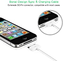 20c643dfc7e BONAI Cable USB para iPhone 4S / 4, 30-pin USB Cable de Datos ...