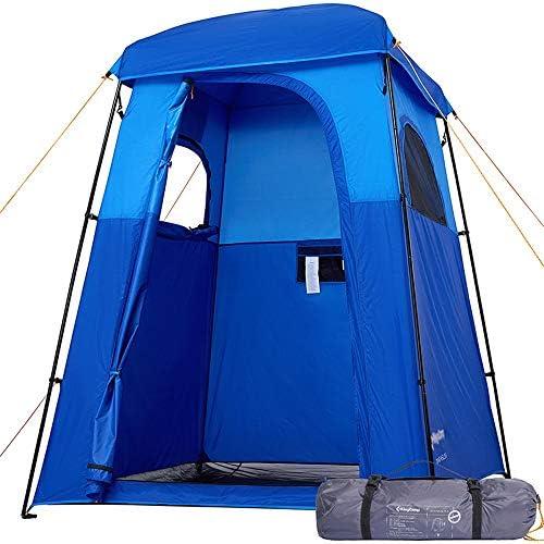 ルーム、サンシェードベビーアウトドアリュックシェルターキャノピー、防水ポータブルアップトイレテントを変更するシャワープライバシートイレテント、テント、ポップアップテントドレッシング屋外シャワーテント、ビーチ SHUSHI (Color : Blue)