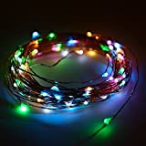 Patio Lawn Garden Best Deals - Minger Waterproof Led String Light,10ft 30 LEDS Indoor/Outdoor Starry Lights with 3xAA Battery Power Supply for Holiday, Christmas, New Year, Wedding, Birthday Party, Homes, Patios, Gardens, Lawns Decoration (10 ft Multi-colored)