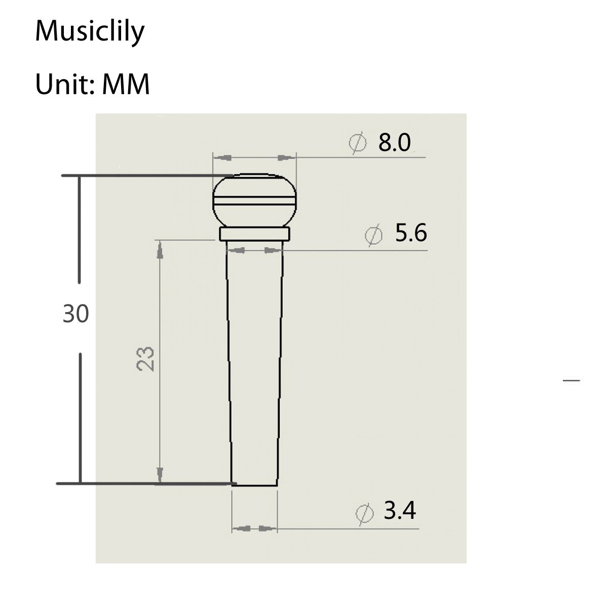 Musiclily Slotted Folk Acoustic Guitar Ebony Bridge End Pins Endpin Parts Diagram For Martin Taylor