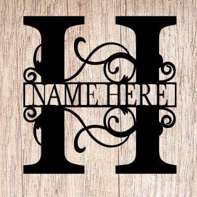 Monogrammed Name Door Hanger