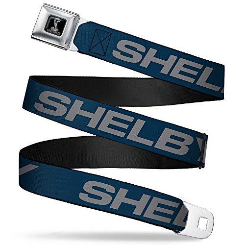 Shelby Bold Blue/gray Seatbelt Belt