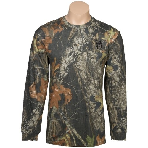 Georgia State Realtree Camo Long Sleeve T Shirt w/Pocket 'GSU w/Panther' - Small