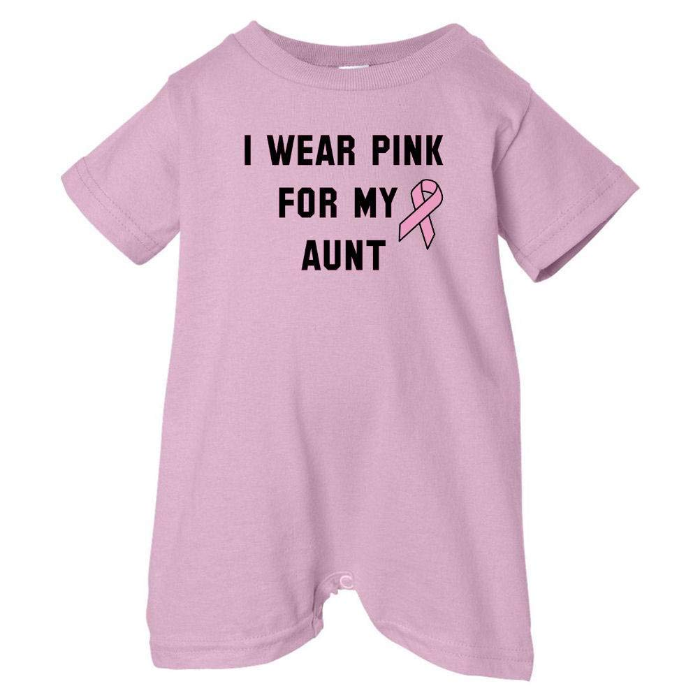 Pink, 18 Months Mashed Clothing Unisex Baby I Wear Pink For My Aunt T-Shirt Romper