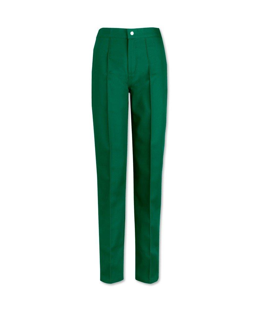 Alexandra W40-bo-rg-28pour femme Devant plat Pantalon, Regular, taille 28, Vert bouteille