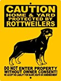 """ROTTWEILER DOG SIGN 9""""x12"""" ALUMINUM """"ANIMALZRULE ORIGINAL DESIGN - """"NO ONE ELSE IS AUTH0RIZED TO SELL THIS SIGN"""" (Any one else selling this sign is selling a CHEAP COPY) THIS SIGN COMES WITH (2) HOLES FOR EASY MOUNTING."""