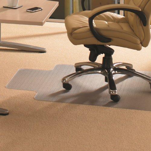 - Cleartex Advantagemat, Chair Mat for Low Pile Carpets, Clear PVC, Rectangular with Lip, Size 45