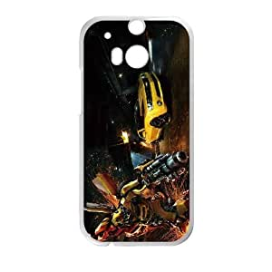 Generic hard plastic Little buddy Bumble Bee Cell Phone Case for HTC One M8 White ABC8354632