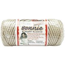 Pepperell 4mm Bonnie Macramé Craft Cord, 50-Yard, Pearl/Beige