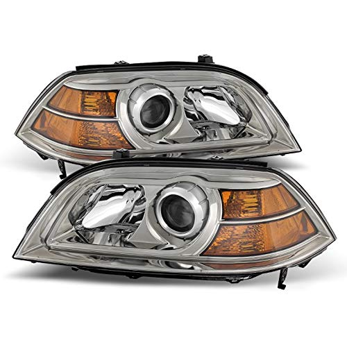For 2004-2006 MDX Chrome Housing Projector Headlights Assembly Replacement LH+RH Set Pair Left+Right/2005