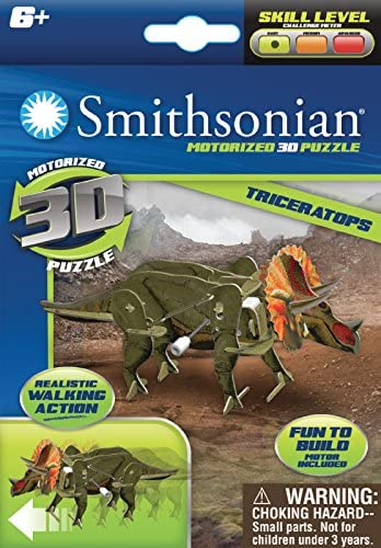 Dinosaur 3 Pack Ages 6 Smithsonian Motorized 3D Puzzle Brand New