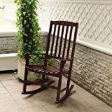Wooden Outdoor Chairs Mainstays Outdoor Rocking Chair, Brown