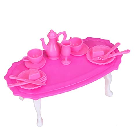 Mobili Sala Da Pranzo Tavolo Da Pranzo Insieme Per Barbie Doll ...