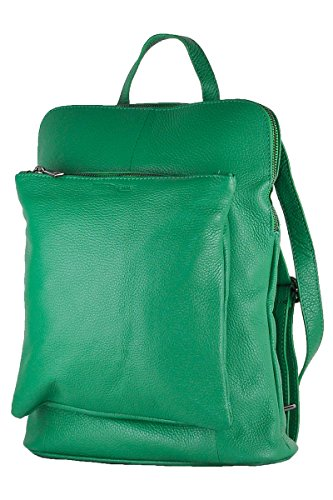 Italy In Made 100 Borderline Leather Beatrice Backpack Green 7Zqtnw1S