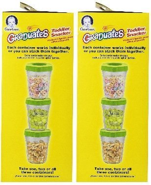 NUK Gerber Graduates Toddler Snacker with Ice Pack, 6-Count , 2 Pack