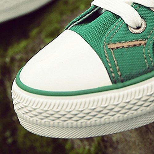 estive scarpe studenti stile Green di Color coreana selvaggio tendenza basse Harajuku da uomo Scarpe scarpe YaNanHome studenti Size Scarpe Green tela 39 stile Espadrillas SnW6ax8