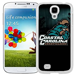 Fashionable And Unique Custom Designed With NCAA Big South Conference Coastal Carolina Chanticleers 4 Protective Cell Phone Hardshell Cover Case For Samsung Galaxy S4 I9500 i337 M919 i545 r970 l720 Phone Case White
