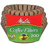 Melitta 62957 8 To 12 Cup Natural Brown Basket Coffee Filters 200 Count  (Pack of 2)