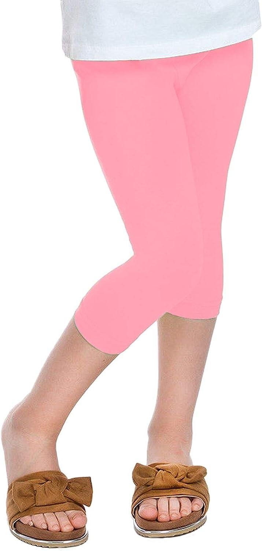 Hamishkane New Kids Girls Plain Gymnastics Dance 3//4 Capri Leggings Children Basic Cropped Pant