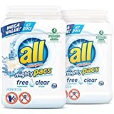 all Mighty Pacs Laundry Detergent, Free Clear for Sensitive Skin, 67...